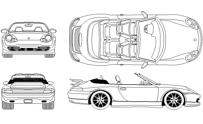 1999 model car detail dwg file