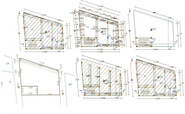 1 BHK Apartment With Ground Floor Shop Plan Design
