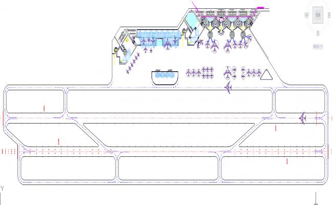 Airport plan detail DWG