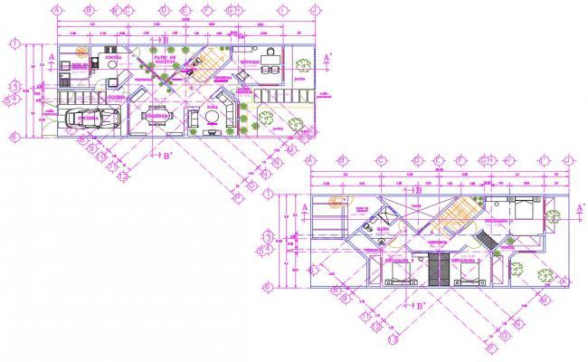 1bhk Bungalow Autocad Plan