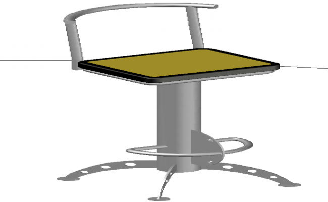 3D Chair design block