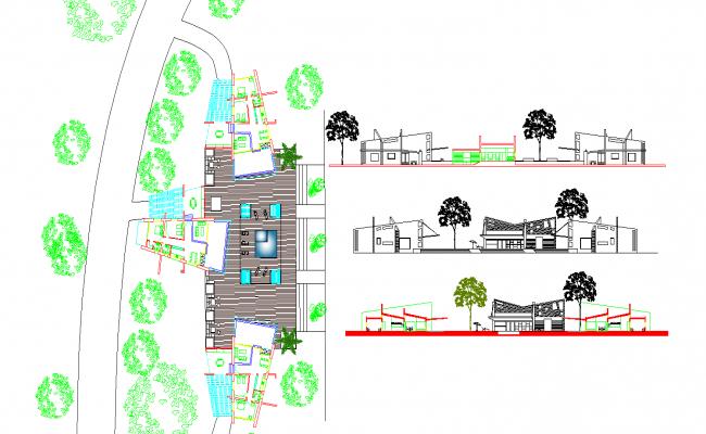 Three bungalows Plan
