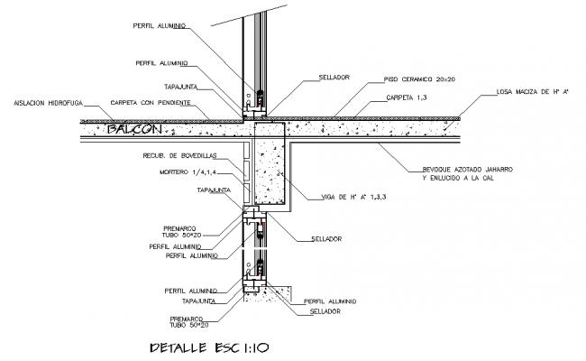 Balcony Construction detail