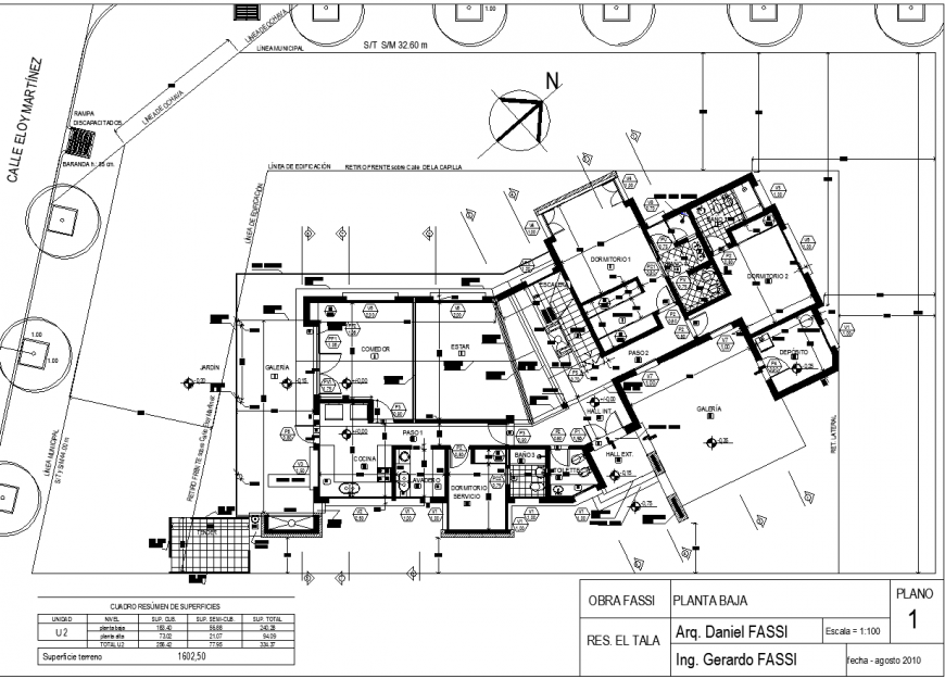 1st floor construction detail plan of house in dwg AutoCAD file.