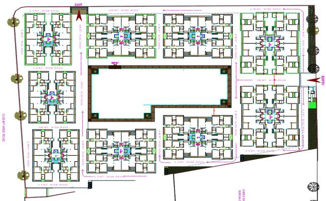 2 BHK Apartment Floor Plan