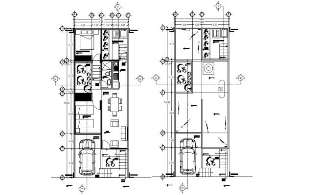 2 BHK Condo Furniture Layout Plan