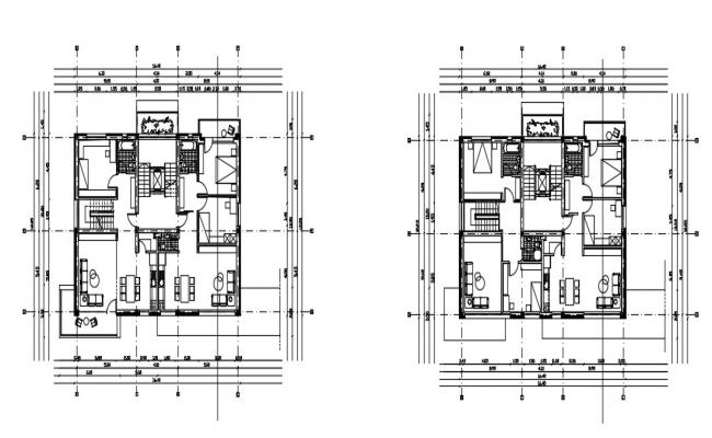 2 BHK Plan In AutoCAD File