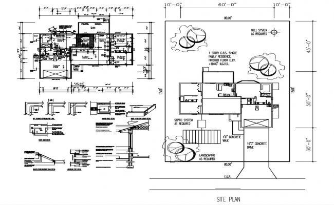 2 BHK Townhouse Plan AutoCAD File