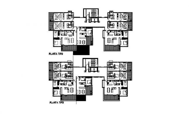 2 Bedroom Flat Design Plan In AutoCAD File