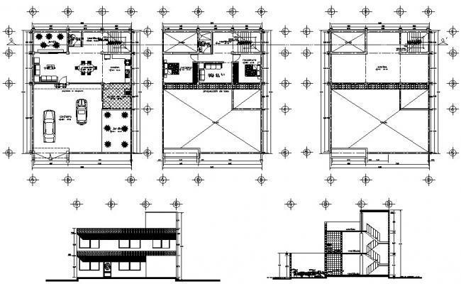 2 Bedroom Modern House plan CAD file