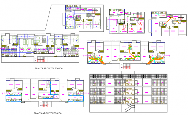 2 Bedroom apartment plan dwg file