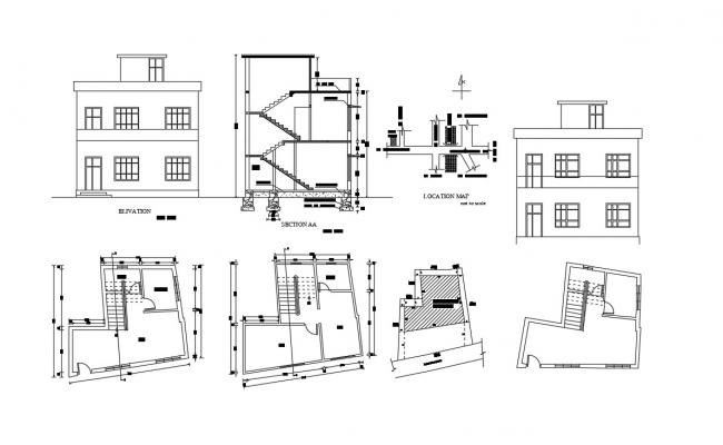 2 Storey House Plan With Elevation Design