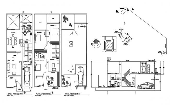 2 Storey House Plans In AutoCAD File