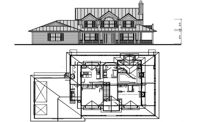 2 Storey House Project DWG File