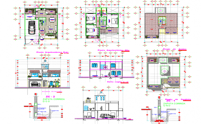 2 Story House plan dwg file – 2 Storey House Floor Plan Dwg