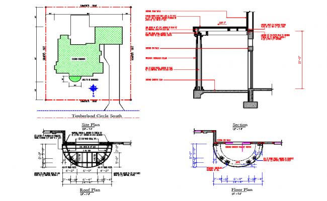 2 Wall joint section plan with detailing dwg file