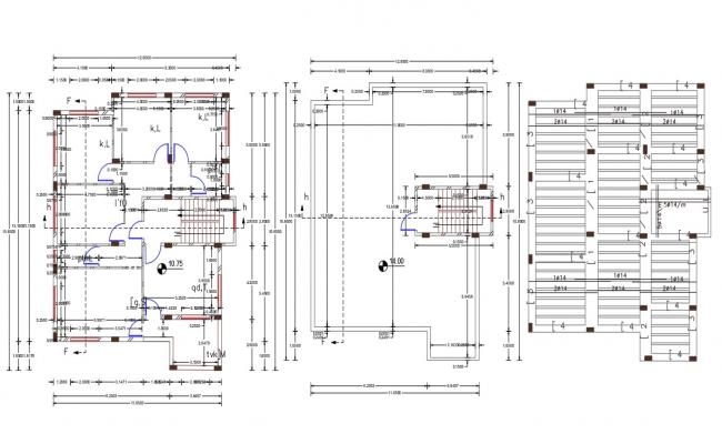 2000 Square Feet 3 BHK House Floor Plan Design