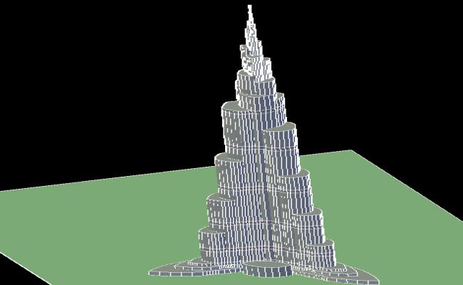 3d Burj Khalifa Tower