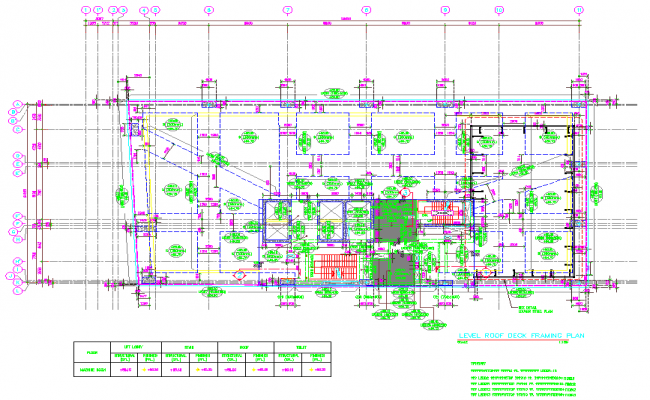 22nd level roof deck Framing Plan