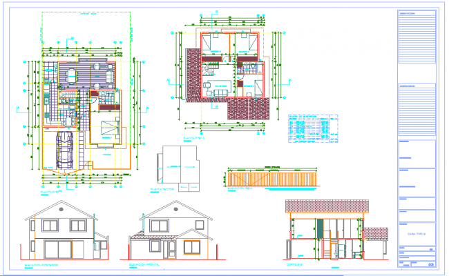 2 Store House plan