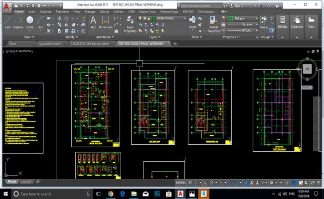 250 sq yard house plan all drawing