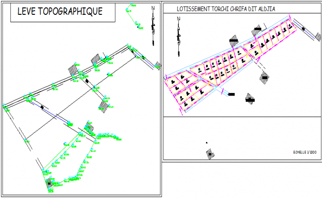 Topographic layout