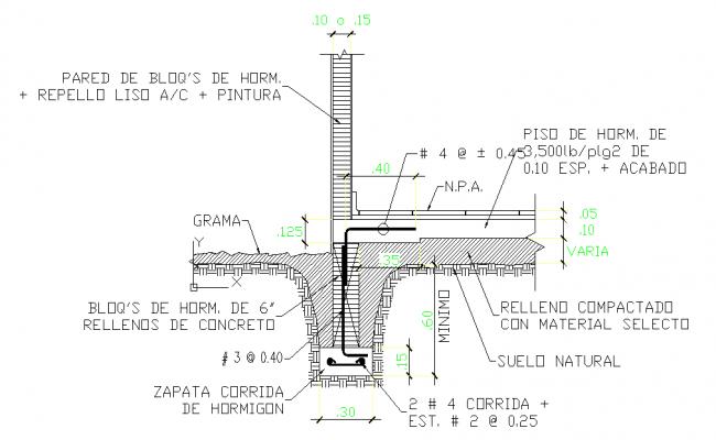 Concrete Foundation Detail