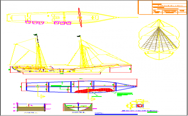 Detail drawing of ship