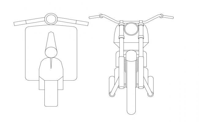 2D CAD Drawing Bike Elevation Cad Block Free Download