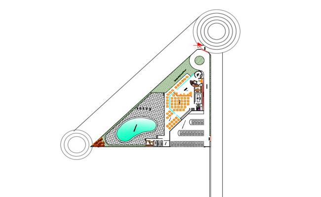 2D CAD Drawing Design Of Club AutoCAD File