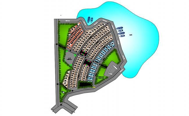 2D CAD Drawing Presentation Plan Of Plotting Design AutoCAD File
