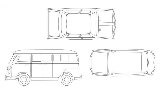 2D Drawing Autocad Cars Blocks DWG Free Download