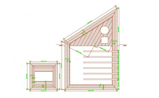 2D Drawing Of Terrace Roof Plans AutoCAD File Free