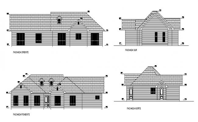 2D Drawing of residential house 5.80mtr x 23.40mtr