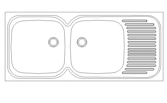 2D Kitchen Sink Detail