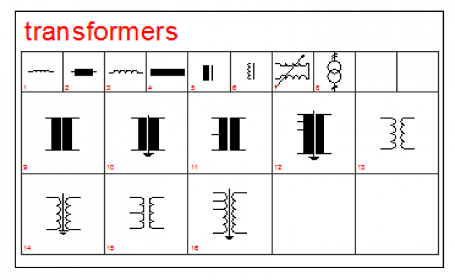 2D block of Electrical Transformers design drawing