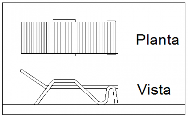2D Block Of Rest Chair Design Drawing