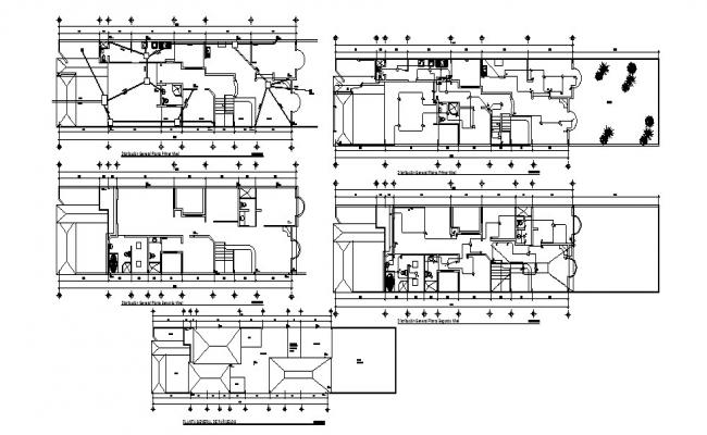 2D drawing of bungalow 29.22mtr x 6.56mtr  with top view