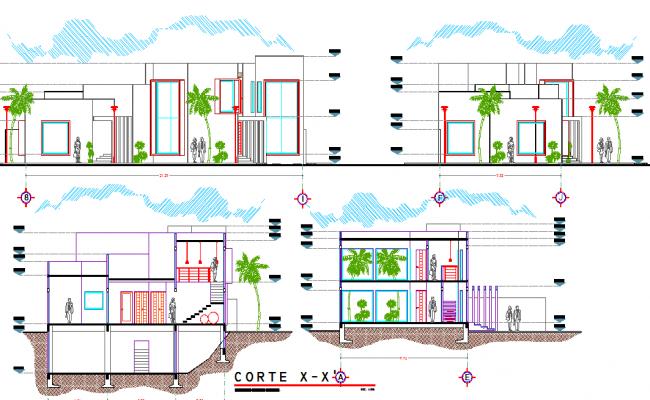 2D elevation details of a building
