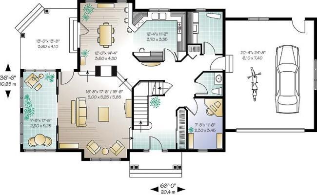 2D house design