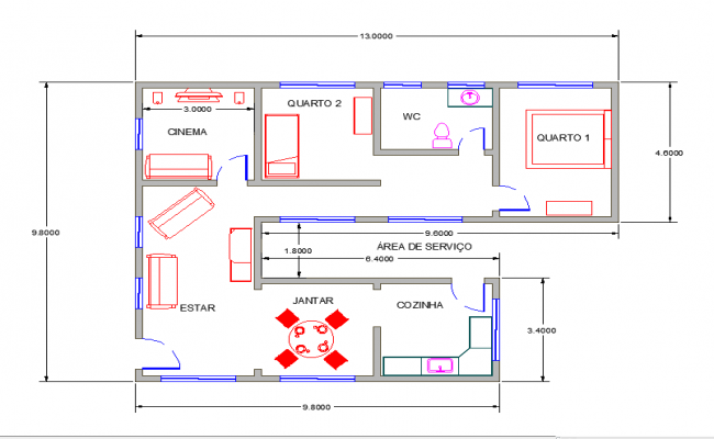 2d simple floor plan with dimensions for Simple floor plan with dimensions