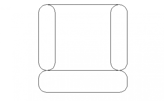 2D single seater sofa details
