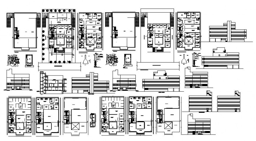 2 d  cad drawing of global hospital Auto Cad software