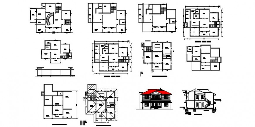 2 d  drawing of office house plan auto cad software