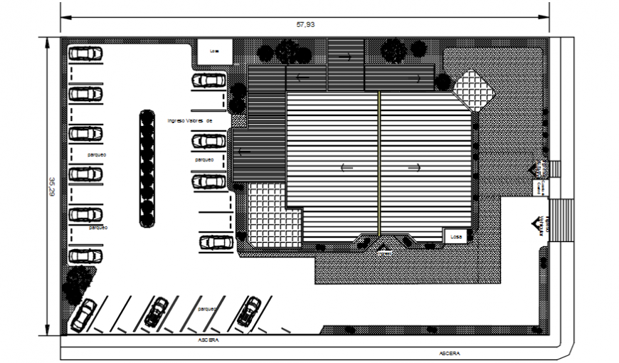 2 d cad drawing of bank office top view auto cad software