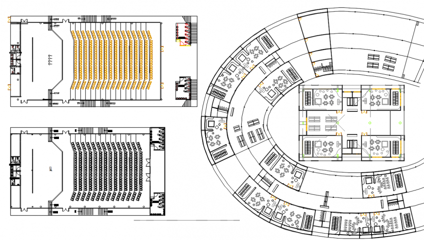 2 d cad drawing of billing school plan Auto Cad software