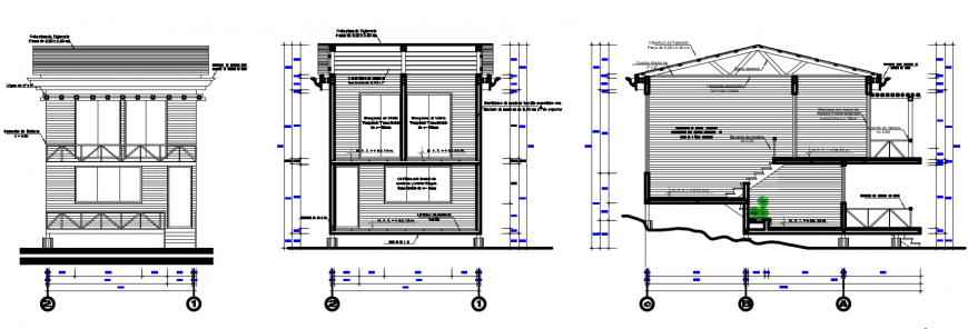 2 d cad drawing of bungalow exterior elevation auto cad software