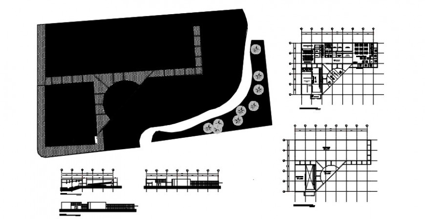 2 d cad drawing of central culture art plan Auto Cad software
