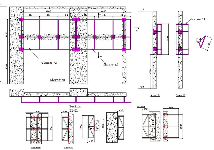 2 d cad drawing of church design elevation Auto Cad software