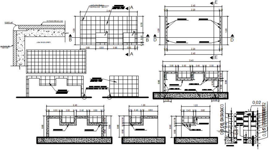 2 d cad drawing of college detail Auto Cad software